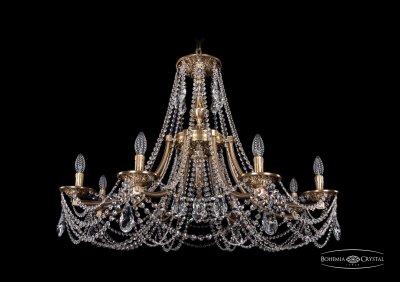 Люстра Bohemia Ivele 1771/8/340/C/FPПодвесные<br><br><br>S освещ. до, м2: 16<br>Тип товара: Люстра<br>Тип лампы: накаливания / энергосбережения / LED-светодиодная<br>Тип цоколя: E14<br>Количество ламп: 8<br>MAX мощность ламп, Вт: 40<br>Диаметр, мм мм: 1000<br>Высота, мм: 740<br>Цвет арматуры: Французская патина