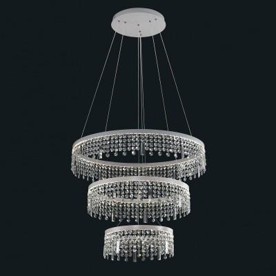 Люстра Favourite 1780-18P SplatterПодвесные<br>Выбирая модель светильника Favourite 1780-18P, обратите внимание, что каркас белого цвета, хрусталь высшего качества. Дополнительная информация в характеристиках или по телефону.<br><br>S освещ. до, м2: 50<br>Крепление: Планка<br>Цветовая t, К: 4000K<br>Тип цоколя: LED<br>Количество ламп: 3<br>MAX мощность ламп, Вт: 42,56,28<br>Диаметр, мм мм: 800/600/400<br>Размеры: D800/600/400*H1500<br>Высота, мм: 1500