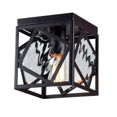 Потолочный светильник Favourite 1785-1U BrookПотолочные<br>Выбирая модель светильника Favourite 1785-1U, обратите внимание, что арматура черного цвета, вставки из стекла с эффектом струящейся воды. Дополнительная информация в характеристиках или по телефону.<br><br>Установка на натяжной потолок: Ограничено<br>S освещ. до, м2: 3<br>Тип цоколя: E27<br>Количество ламп: 1<br>Ширина, мм: 165<br>MAX мощность ламп, Вт: 60<br>Размеры: L165*W165*H185<br>Длина, мм: 165<br>Высота, мм: 185<br>Цвет арматуры: черный<br>Общая мощность, Вт: 60W