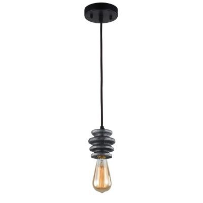 Люстра Favourite 1793-1P Spoolодиночные подвесные светильники<br>Выбирая модель светильника Favourite 1793-1P, обратите внимание, что арматура черного цвета с темно-серыми декоративными катушками из гипса. Дополнительная информация в характеристиках или по телефону.<br><br>S освещ. до, м2: 3<br>Крепление: Планка<br>Тип цоколя: E27<br>Количество ламп: 1<br>Диаметр, мм мм: 120<br>Размеры: D120*H1355<br>Высота, мм: 1355<br>MAX мощность ламп, Вт: 60<br>Общая мощность, Вт: 60W
