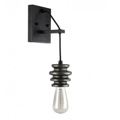 Настенный светильник Favourite 1793-1W SpoolЛофт<br>Выбирая модель светильника Favourite 1793-1W, обратите внимание, что арматура черного цвета с темно-серыми декоративными катушками из гипса. Дополнительная информация в характеристиках или по телефону.<br><br>Тип цоколя: E27<br>Количество ламп: 1<br>Ширина, мм: 120<br>Размеры: W120*D165*H315<br>Длина, мм: 165<br>Высота, мм: 315<br>Общая мощность, Вт: 60W