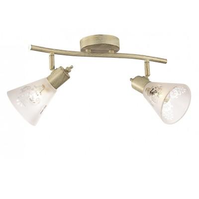 Потолочный светильник Favourite 1794-2U GumbataДвойные<br>Выбирая модель светильника Favourite 1794-2U, обратите внимание, что каркас цвета слоновой кости с золотой патиной, плафон из матового стекла с прозрачным узором. Дополнительная информация в характеристиках или по телефону.<br><br>S освещ. до, м2: 4<br>Тип цоколя: E14<br>Количество ламп: 2<br>Ширина, мм: 180<br>Размеры: L380*W180*H180<br>Длина, мм: 380<br>Высота, мм: 180<br>Общая мощность, Вт: 40W