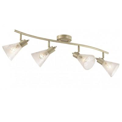 Потолочный светильник Favourite 1794-4U GumbataС 4 лампами<br>Выбирая модель светильника Favourite 1794-4U, обратите внимание, что каркас цвета слоновой кости с золотой патиной, плафон из матового стекла с прозрачным узором. Дополнительная информация в характеристиках или по телефону.<br><br>S освещ. до, м2: 8<br>Тип цоколя: E14<br>Количество ламп: 4<br>Ширина, мм: 775<br>Размеры: W775*H180*D180<br>Длина, мм: 180<br>Высота, мм: 180<br>Общая мощность, Вт: 40W