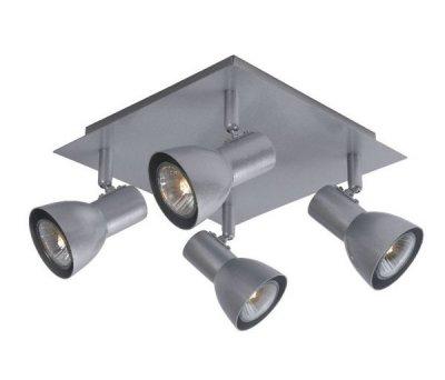 потолочный светильник Lucide 17942/14/36 LAURAС 4 лампами<br>Светильники-споты – это оригинальные изделия с современным дизайном. Они позволяют не ограничивать свою фантазию при выборе освещения для интерьера. Такие модели обеспечивают достаточно качественный свет. Благодаря компактным размерам Вы можете использовать несколько спотов для одного помещения.  Интернет-магазин «Светодом» предлагает необычный светильник-спот Lucide 17942/14/36 по привлекательной цене. Эта модель станет отличным дополнением к люстре, выполненной в том же стиле. Перед оформлением заказа изучите характеристики изделия.  Купить светильник-спот Lucide 17942/14/36 в нашем онлайн-магазине Вы можете либо с помощью формы на сайте, либо по указанным выше телефонам. Обратите внимание, что у нас склады не только в Москве и Екатеринбурге, но и других городах России.<br><br>S освещ. до, м2: 7<br>Тип лампы: галогенная / LED-светодиодная<br>Тип цоколя: GU10<br>Цвет арматуры: серый<br>Количество ламп: 4<br>Ширина, мм: 230<br>Длина, мм: 230<br>Высота, мм: 120<br>MAX мощность ламп, Вт: 35