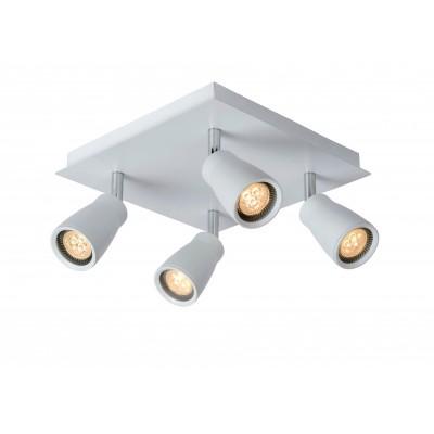 Светильник Lucide 17949/14/31споты 4 лампы<br>Светильники-споты – это оригинальные изделия с современным дизайном. Они позволяют не ограничивать свою фантазию при выборе освещения для интерьера. Такие модели обеспечивают достаточно качественный свет. Благодаря компактным размерам Вы можете использовать несколько спотов для одного помещения.  Интернет-магазин «Светодом» предлагает необычный светильник-спот Lucide 17949/14/31 по привлекательной цене. Эта модель станет отличным дополнением к люстре, выполненной в том же стиле. Перед оформлением заказа изучите характеристики изделия.  Купить светильник-спот Lucide 17949/14/31 в нашем онлайн-магазине Вы можете либо с помощью формы на сайте, либо по указанным выше телефонам. Обратите внимание, что у нас склады не только в Москве и Екатеринбурге, но и других городах России.<br><br>S освещ. до, м2: 7<br>Тип лампы: LED - светодиодная<br>Тип цоколя: GU10<br>Цвет арматуры: белый<br>Количество ламп: 4<br>Ширина, мм: 230<br>Длина, мм: 230<br>Высота, мм: 120<br>MAX мощность ламп, Вт: 4.5