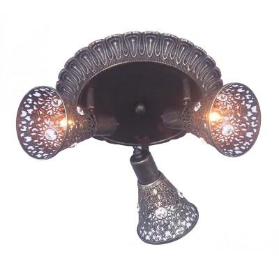 Потолочный светильник Favourite 1797-3U Arabian DrimТройные<br>Выбирая модель светильника Favourite 1797-3U, обратите внимание, что каркас коричневого цвета с золотой патиной, плафон из металла с отделкой хрусталем. Дополнительная информация в характеристиках или по телефону.<br><br>S освещ. до, м2: 6<br>Тип цоколя: E14<br>Количество ламп: 3<br>Диаметр, мм мм: 420<br>Размеры: D420*H160<br>Высота, мм: 160<br>Общая мощность, Вт: 40W