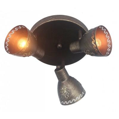 Потолочный светильник Favourite 1799-3U MartosТройные<br>Выбирая модель светильника Favourite 1799-3U, обратите внимание, что каркас коричневого цвета с золотой патиной, плафон из металла. Дополнительная информация в характеристиках или по телефону.<br><br>Тип цоколя: E14<br>Количество ламп: 3<br>Диаметр, мм мм: 370<br>Размеры: D370*H150<br>Высота, мм: 150<br>Общая мощность, Вт: 40W