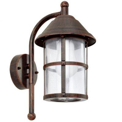 Eglo SAN TELMO 90184 светильник уличныйНастенные<br>Обеспечение качественного уличного освещения – важная задача для владельцев коттеджей. Компания «Светодом» предлагает современные светильники, которые порадуют Вас отличным исполнением. В нашем каталоге представлена продукция известных производителей, пользующихся популярностью благодаря высокому качеству выпускаемых товаров.   Уличный светильник Eglo 90184 не просто обеспечит качественное освещение, но и станет украшением Вашего участка. Модель выполнена из современных материалов и имеет влагозащитный корпус, благодаря которому ей не страшны осадки.   Купить уличный светильник Eglo 90184, представленный в нашем каталоге, можно с помощью онлайн-формы для заказа. Чтобы задать имеющиеся вопросы, звоните нам по указанным телефонам. Мы доставим Ваш заказ не только в Москву и Екатеринбург, но и другие города.<br><br>Крепление: настенное<br>Тип цоколя: E27<br>Количество ламп: 1<br>MAX мощность ламп, Вт: 60<br>Длина, мм: 180<br>Расстояние от стены, мм: 240<br>Высота, мм: 350<br>Оттенок (цвет): прозрачный<br>Цвет арматуры: коричневый<br>Общая мощность, Вт: 2