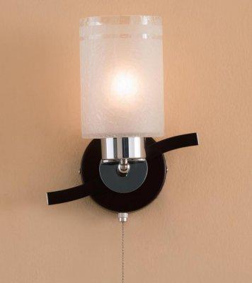Citilux Фортуна CL156311 Светильник настенный браМодерн<br><br><br>S освещ. до, м2: 5<br>Тип лампы: накаливания / энергосбережения / LED-светодиодная<br>Тип цоколя: E27<br>Количество ламп: 1<br>Ширина, мм: 160<br>MAX мощность ламп, Вт: 75<br>Размеры: Габариты …см, Высота 33см, Стекло Кракле с частичным матированием, с выключателем<br>Длина, мм: 180<br>Высота, мм: 230<br>Поверхность арматуры: глянцевый, матовый<br>Оттенок (цвет): белый<br>Цвет арматуры: серебристый хром, венге