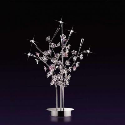 Настольная лампа Odeon light 1802/3T хром SakuraФлористика<br><br><br>S освещ. до, м2: 8<br>Тип лампы: галогенная / LED-светодиодная<br>Тип цоколя: G9<br>Количество ламп: 3<br>Ширина, мм: 350<br>MAX мощность ламп, Вт: 40<br>Высота, мм: 600<br>Цвет арматуры: серебристый