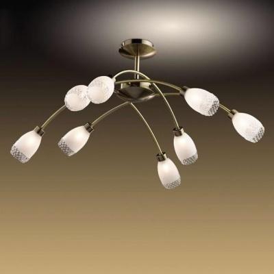 Люстра Odeon Light 1803/8 бронза LertaПотолочные<br>Яркость света в концептуальном решении модерн – это стильно! Особенно когда речь идёт о потолочной люстре Odeon Light 1803/8, чьё распределение сияния обеспечено восемью лампами. Это необходимо, как для насыщенного освещения пространства, так и для его отдельного распределения по поверхности. При этих достоинствах люстра Odeon Light 1803/8 также гармонично сочетает в себе необходимые для модернового интерьера практичность и чистую эстетику. Каждый элемент конструкции бронзового мерцания создан по концепции лёгкой геометрии плавных линий. Нет резкости, нагромождения, сложных форм. Только лёгкость, мягкость и идеальные пропорции! Перед Вами достойное освещение в стиле модерн!<br><br>Установка на натяжной потолок: Да<br>S освещ. до, м2: 21<br>Крепление: Планка<br>Тип лампы: галогенная / LED-светодиодная<br>Тип цоколя: G9<br>Цвет арматуры: бронзовый<br>Количество ламп: 8<br>Диаметр, мм мм: 800<br>Высота, мм: 340<br>MAX мощность ламп, Вт: 40