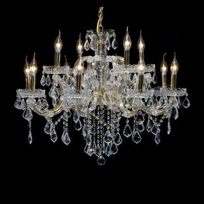 Люстра Lamplandia 1804/12 PrestigeПодвесные<br>Роскошная люстра на 12 ламп-свечей в  классическом стиле украшена изумительными подвесами из хрусталя в виде  обработанных кристаллов  ASFOR<br><br>Установка на натяжной потолок: Да<br>S освещ. до, м2: 32<br>Крепление: Крюк<br>Тип лампы: накаливания / энергосбережения / LED-светодиодная<br>Тип цоколя: E14<br>Количество ламп: 12<br>Ширина, мм: 820<br>MAX мощность ламп, Вт: 40<br>Длина, мм: 820<br>Высота, мм: 500<br>Цвет арматуры: золотой