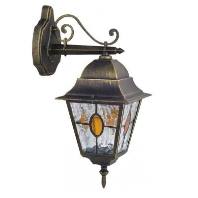 Уличный светильник Favourite 1805-1W ZagrebНастенные<br>Выбирая модель светильника Favourite 1805-1W, обратите внимание, что металл черный с золотой патиной, плафон из полупрозрачного стекла с эффектом льда и вставкой коньячного цвета. Дополнительная информация в характеристиках или по телефону.<br><br>Тип цоколя: E27<br>Количество ламп: 1<br>Ширина, мм: 180<br>Размеры: D250*W180*H450<br>Длина, мм: 250<br>Высота, мм: 450<br>Общая мощность, Вт: 100W