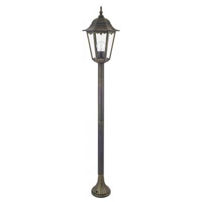 Уличный светильник Favourite 1808-1F LondonОдиночные столбы<br>Выбирая модель светильника Favourite 1808-1F, обратите внимание, что металл черный с золотой патиной, плафон из прозрачного стекла. Дополнительная информация в характеристиках или по телефону.<br><br>Тип цоколя: E27<br>Количество ламп: 1<br>Ширина, мм: 205<br>Размеры: 230*205*1250<br>Длина, мм: 230<br>Высота, мм: 1250<br>Общая мощность, Вт: 100W