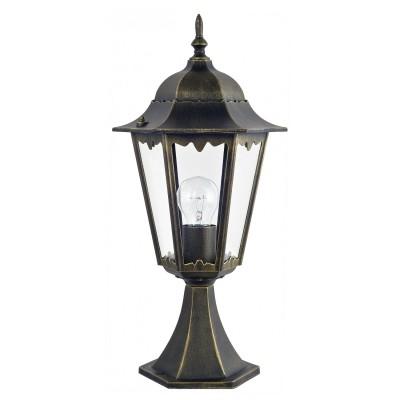 Уличный светильник Favourite 1808-1T LondonУличные фонари на столб<br>Выбирая модель светильника Favourite 1808-1T, обратите внимание, что металл черный с золотой патиной, плафон из прозрачного стекла. Дополнительная информация в характеристиках или по телефону.<br><br>Тип цоколя: E27<br>Количество ламп: 1<br>Ширина, мм: 205<br>Размеры: 230*205*515<br>Длина, мм: 230<br>Высота, мм: 515<br>Общая мощность, Вт: 100W