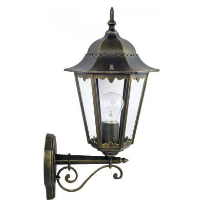 Уличный светильник Favourite 1808-1W LondonУличные настенные светильники<br>Выбирая модель светильника Favourite 1808-1W, обратите внимание, что металл черный с золотой патиной, плафон из прозрачного стекла. Дополнительная информация в характеристиках или по телефону.<br><br>Тип цоколя: E27<br>Количество ламп: 1<br>Ширина, мм: 205<br>Размеры: 285*205*515<br>Длина, мм: 285<br>Высота, мм: 515<br>Общая мощность, Вт: 100W