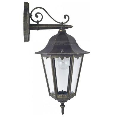 Уличный светильник Favourite 1809-1W LondonНастенные<br>Выбирая модель светильника Favourite 1809-1W, обратите внимание, что металл черный с золотой патиной, плафон из прозрачного стекла. Дополнительная информация в характеристиках или по телефону.<br><br>Тип цоколя: E27<br>Количество ламп: 1<br>Ширина, мм: 205<br>Размеры: 285*205*515<br>Длина, мм: 285<br>Высота, мм: 515<br>Общая мощность, Вт: 100W