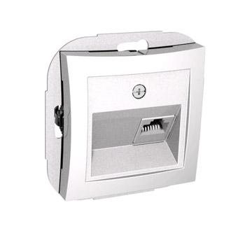 Lexel Дуэт белый телефонная розетка RJ11, одиночная (SE WDE000181)Белый<br><br><br>Оттенок (цвет): белый