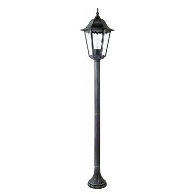 Уличный светильник Favourite 1810-1F LondonОдиночные фонари<br>Выбирая модель светильника Favourite 1810-1F, обратите внимание, что металл черный с серебряной патиной, плафон из прозрачного стекла. Дополнительная информация в характеристиках или по телефону.<br><br>Тип цоколя: E27<br>Количество ламп: 1<br>Ширина, мм: 205<br>Размеры: 230*205*1250<br>Длина, мм: 230<br>Высота, мм: 1250<br>Общая мощность, Вт: 100W