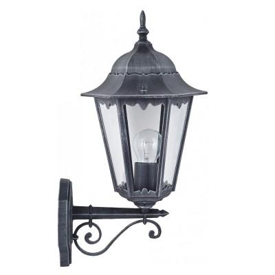 Уличный светильник Favourite 1810-1W LondonНастенные<br>Выбирая модель светильника Favourite 1810-1W, обратите внимание, что металл черный с серебряной патиной, плафон из прозрачного стекла. Дополнительная информация в характеристиках или по телефону.<br><br>Тип цоколя: E27<br>Количество ламп: 1<br>Ширина, мм: 205<br>Размеры: 285*205*515<br>Длина, мм: 285<br>Высота, мм: 515<br>Общая мощность, Вт: 100W