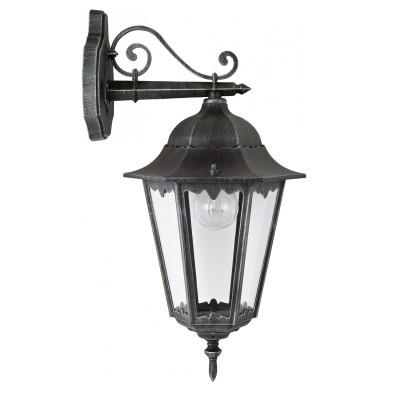 Уличный светильник Favourite 1811-1W LondonНастенные<br>Выбирая модель светильника Favourite 1811-1W, обратите внимание, что металл черный с серебряной патиной, плафон из прозрачного стекла. Дополнительная информация в характеристиках или по телефону.<br><br>Тип цоколя: E27<br>Количество ламп: 1<br>Ширина, мм: 205<br>Размеры: 285*205*515<br>Длина, мм: 285<br>Высота, мм: 515<br>Общая мощность, Вт: 100W