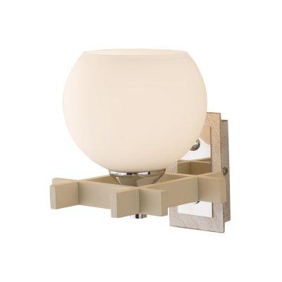 Светильник настенный бра Citilux CL114312 Наритабра под старину<br>Настенный светильник Citilux CL114312 Нарита в стиле «рустика» станет прекрасным дополнением к световому оформлению Вашего интерьера! Присущие этому дизайнерскому направлению деревянные, выполненные из дуба, «строгие» и нарочито «грубые» элементы арматуры  «смягчены» за счет круглой формы плафона и светлых оттенков, что смотрится очень эффектно и броско. Рекомендуем Вам использовать бра в комплекте из нескольких экземпляров и потолочной люстрой из этой же серии, тогда интерьер будет выглядеть «законченным» и совершенным, как будто над ним поработал профессиональный дизайнер.
