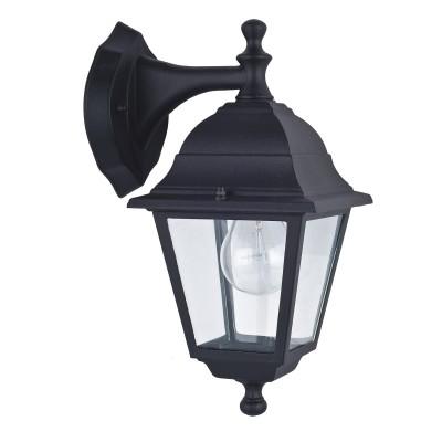 Уличный светильник Favourite 1813-1W LeonНастенные<br>Выбирая модель светильника Favourite 1813-1W, обратите внимание, что металл черного цвета, плафон из прозрачного стекла. Дополнительная информация в характеристиках или по телефону.<br><br>Тип цоколя: E27<br>Количество ламп: 1<br>Ширина, мм: 150<br>Размеры: 205*150*330<br>Длина, мм: 205<br>Высота, мм: 330<br>Общая мощность, Вт: 60W