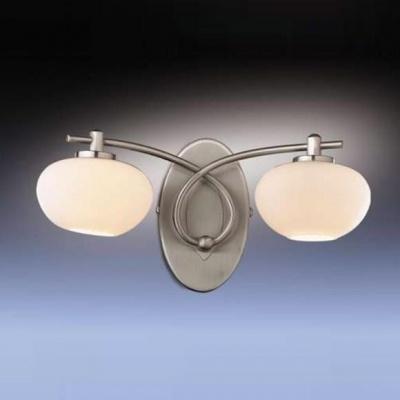 Светильник Odeon Light 1813/2W никель RondoМодерн<br><br><br>S освещ. до, м2: 5<br>Тип лампы: галогенная / LED-светодиодная<br>Тип цоколя: G9<br>Количество ламп: 2<br>Ширина, мм: 255<br>MAX мощность ламп, Вт: 40<br>Высота, мм: 143<br>Цвет арматуры: серый
