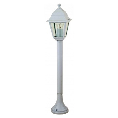 Уличный светильник Favourite 1814-1F LeonОдиночные столбы<br>Выбирая модель светильника Favourite 1814-1F, обратите внимание, что металл белого цвета, плафон из прозрачного стекла. Дополнительная информация в характеристиках или по телефону.<br><br>Тип цоколя: E27<br>Количество ламп: 1<br>Ширина, мм: 150<br>Размеры: 150*150*810<br>Длина, мм: 150<br>Высота, мм: 810<br>Общая мощность, Вт: 60W