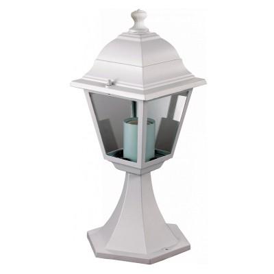 Уличный светильник Favourite 1814-1T LeonФонари на столб<br>Выбирая модель светильника Favourite 1814-1T, обратите внимание, что металл белого цвета, плафон из прозрачного стекла. Дополнительная информация в характеристиках или по телефону.<br><br>Тип цоколя: E27<br>Количество ламп: 1<br>Ширина, мм: 175<br>Размеры: 175*175*400<br>Длина, мм: 175<br>Высота, мм: 400<br>Общая мощность, Вт: 60W