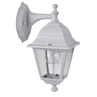 Уличный светильник Favourite 1815-1W LeonНастенные<br>Выбирая модель светильника Favourite 1815-1W, обратите внимание, что металл белого цвета, плафон из прозрачного стекла. Дополнительная информация в характеристиках или по телефону.<br><br>Тип цоколя: E27<br>Количество ламп: 1<br>Ширина, мм: 150<br>Размеры: 205*150*330<br>Длина, мм: 205<br>Высота, мм: 330<br>Общая мощность, Вт: 60W