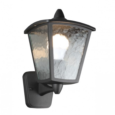 Уличный светильник Favourite 1817-1W ColossoУличные настенные светильники<br>Выбирая модель светильника Favourite 1817-1W, обратите внимание, что каркас черного матового цвета, полупрозрачное стекло с эффектом льда. Дополнительная информация в характеристиках или по телефону.<br><br>Тип цоколя: E27<br>Количество ламп: 1<br>Ширина, мм: 180<br>Размеры: D220*W180*H315<br>Длина, мм: 220<br>Высота, мм: 315<br>Общая мощность, Вт: 60W
