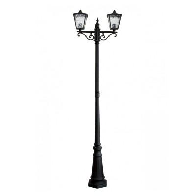 Уличный светильник Favourite 1817-2F ColossoБольшие фонари<br>Выбирая модель светильника Favourite 1817-2F, обратите внимание, что каркас черного матового цвета, полупрозрачное стекло с эффектом льда. Дополнительная информация в характеристиках или по телефону.<br><br>Тип цоколя: E27<br>Количество ламп: 2<br>Ширина, мм: 600<br>Размеры: W600*L260*H2150<br>Длина, мм: 260<br>Высота, мм: 2150<br>Общая мощность, Вт: 60W