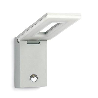 Уличный светильник Favourite 1825-1W FlickerНастенные<br>Выбирая модель светильника Favourite 1825-1W, обратите внимание, что металл алюминиевого цвета (матовое серебро), стеклянный рассеиватель, датчик движения. Дополнительная информация в характеристиках или по телефону.<br><br>Тип цоколя: LED<br>Количество ламп: 1<br>Ширина, мм: 100<br>Размеры: 303*100*179<br>Длина, мм: 303<br>Высота, мм: 179<br>Общая мощность, Вт: 10W