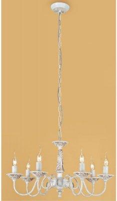 Citilux Родос CL414172 Люстра подвеснаяПодвесные<br><br><br>Установка на натяжной потолок: Да<br>S освещ. до, м2: 28<br>Крепление: Крюк<br>Тип товара: Люстра подвесная<br>Скидка, %: 28<br>Тип лампы: накаливания / энергосбережения / LED-светодиодная<br>Тип цоколя: E14<br>Количество ламп: 7<br>MAX мощность ламп, Вт: 60<br>Диаметр, мм мм: 660<br>Размеры: Диаметр 66см, Высота 45-115см,  Декоративные чашки - полистоун<br>Высота, мм: 450-1150<br>Поверхность арматуры: матовый, рельефный<br>Цвет арматуры: белый