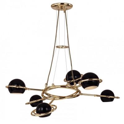 Люстра Favourite 1842-6P PallinoПодвесные<br>Выбирая модель светильника Favourite 1842-6P, обратите внимание, что каркас золотого цвета, металлические плафоны черного цвета, можно изменять конфигурацию светильника. Дополнительная информация в характеристиках или по телефону.<br><br>Установка на натяжной потолок: Да<br>S освещ. до, м2: 12<br>Крепление: Планка<br>Тип цоколя: G9<br>Количество ламп: 6<br>MAX мощность ламп, Вт: 40<br>Диаметр, мм мм: 760<br>Размеры: D760*H250/780<br>Высота, мм: 250 - 780<br>Цвет арматуры: золотой<br>Общая мощность, Вт: 40W
