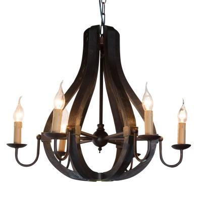 Люстра деревянная Дубравия 186-64-16 ШарлиПодвесные<br><br><br>Установка на натяжной потолок: Да<br>S освещ. до, м2: 15<br>Крепление: Крюк<br>Тип товара: Люстра<br>Скидка, %: 15<br>Тип лампы: накаливания / энергосбережения / LED-светодиодная<br>Тип цоколя: E14<br>Количество ламп: 6<br>Ширина, мм: 550<br>MAX мощность ламп, Вт: 40<br>Длина, мм: 550<br>Высота, мм: 1050<br>Поверхность арматуры: матовый<br>Оттенок (цвет): белый<br>Цвет арматуры: Состаренное дерево венге<br>Общая мощность, Вт: 240