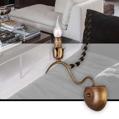 Favourite Girlande 1889-1W Светильник настенный браСовременные<br><br><br>Тип цоколя: E14<br>Количество ламп: 1<br>Размеры: W130*D230*H440<br>MAX мощность ламп, Вт: 40