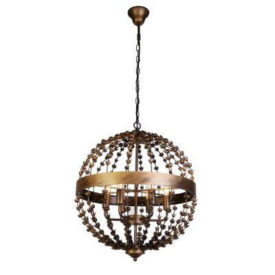 Favourite Blumen-Kugel 1889-6P ЛюстраПодвесные<br><br><br>Установка на натяжной потолок: Да<br>S освещ. до, м2: 12<br>Крепление: крюк<br>Тип цоколя: E14<br>Количество ламп: 6<br>MAX мощность ламп, Вт: 40<br>Диаметр, мм мм: 520<br>Размеры: D520*H610/1610<br>Высота, мм: 610 - 1610<br>Цвет арматуры: золотой