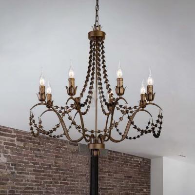 Favourite Girlande 1889-8P ЛюстраПодвесные<br><br><br>Установка на натяжной потолок: Да<br>S освещ. до, м2: 16<br>Крепление: крюк<br>Тип цоколя: E14<br>Количество ламп: 8<br>MAX мощность ламп, Вт: 40<br>Диаметр, мм мм: 730<br>Размеры: D730*H780/1780<br>Высота, мм: 780 - 1780<br>Цвет арматуры: золотой