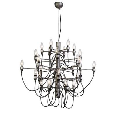 Favourite Golem 1892-30P ЛюстраАрхив<br><br><br>S освещ. до, м2: 60<br>Крепление: крюк<br>Тип цоколя: E14<br>Количество ламп: 30<br>Размеры: D860*H720/1720<br>MAX мощность ламп, Вт: 40