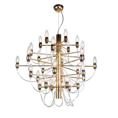 Favourite Golem 1893-30P Люстрасовременные подвесные люстры модерн<br><br><br>Установка на натяжной потолок: Да<br>S освещ. до, м2: 60<br>Крепление: крюк<br>Тип цоколя: E14<br>Цвет арматуры: золотой<br>Количество ламп: 30<br>Диаметр, мм мм: 860<br>Размеры: D860*H720/1720<br>Высота, мм: 720 - 1720<br>MAX мощность ламп, Вт: 40