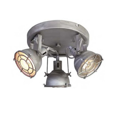 Favourite Lichtwerfer 1894-3C Люстрапотолочные люстры лофт<br><br><br>Установка на натяжной потолок: Ограничено<br>S освещ. до, м2: 8<br>Крепление: планка<br>Тип цоколя: GU10<br>Цвет арматуры: серый<br>Количество ламп: 3<br>Ширина, мм: 260<br>Размеры: L240*W260*H150<br>Длина, мм: 240<br>Высота, мм: 150<br>MAX мощность ламп, Вт: 50