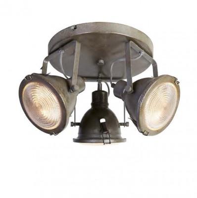 Favourite Industria 1899-3C ЛюстраПотолочные<br><br><br>S освещ. до, м2: 8<br>Крепление: планка<br>Тип цоколя: GU10<br>Количество ламп: 3<br>MAX мощность ламп, Вт: 50<br>Размеры: L300*W300*H210<br>Цвет арматуры: серый