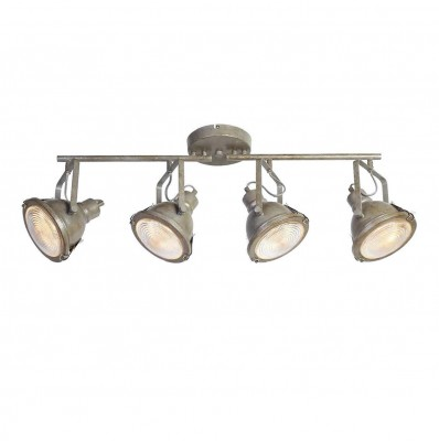 Favourite Industria 1899-4C ЛюстраС 4 лампами<br><br><br>S освещ. до, м2: 10<br>Крепление: планка<br>Тип цоколя: GU10<br>Количество ламп: 4<br>MAX мощность ламп, Вт: 50<br>Размеры: L800*W165*H300