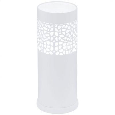 Eglo CARMELIA 91417 Настольная лампаСовременные настольные лампы модерн<br>Австрийское качество модели светильника Eglo 91417 не оставит равнодушным каждого купившего! Стальной корпус покрытый дюропластом, с выключателем, Класс изоляции 2 (двойная изоляция), IP 20, освещенность 806 lm ,Н=295D=120,1X60W,E27.<br><br>S освещ. до, м2: 4<br>Тип цоколя: E27<br>Цвет арматуры: белый<br>Количество ламп: 1<br>Диаметр, мм мм: 120<br>Размеры основания, мм: 0<br>Высота, мм: 295<br>MAX мощность ламп, Вт: 2<br>Общая мощность, Вт: 1X60W