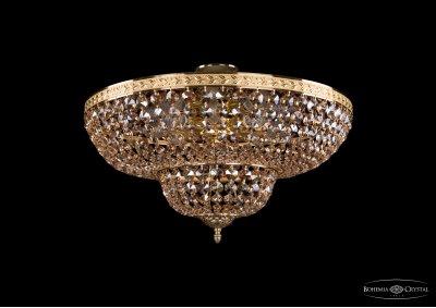 Люстра хрустальная Bohemia Ivele 1910/50/Z/GD/R721Потолочные<br><br><br>S освещ. до, м2: 24<br>Тип товара: Люстра хрустальная<br>Тип лампы: накаливания / энергосбережения / LED-светодиодная<br>Тип цоколя: E14<br>Количество ламп: 8<br>MAX мощность ламп, Вт: 60<br>Размеры: Диаметр - 50см<br>Цвет арматуры: Золото