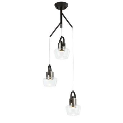 Favourite 283 1913-3P ЛюстраПодвесные<br><br><br>S освещ. до, м2: 5<br>Крепление: планка<br>Тип цоколя: GU10<br>Количество ламп: 3<br>MAX мощность ламп, Вт: 35<br>Размеры: D351*H400/1600<br>Цвет арматуры: черный