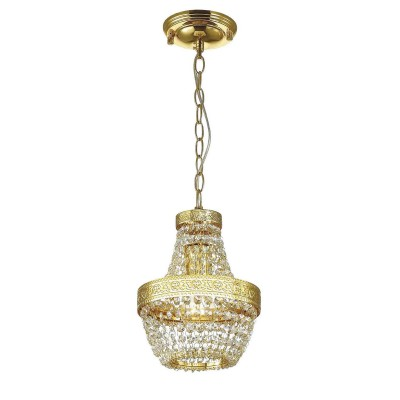 Favourite Premio 1914-1P ЛюстраПодвесные<br><br><br>S освещ. до, м2: 3<br>Крепление: планка<br>Тип цоколя: E27<br>Количество ламп: 1<br>MAX мощность ламп, Вт: 60<br>Размеры: D205*H290/1290<br>Цвет арматуры: золотой