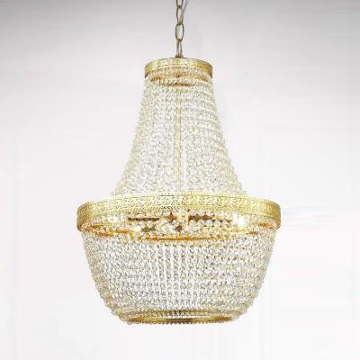 Favourite Premio 1914-6P ЛюстраПодвесные<br><br><br>Установка на натяжной потолок: Да<br>S освещ. до, м2: 12<br>Крепление: планка<br>Тип цоколя: E14<br>Количество ламп: 6<br>MAX мощность ламп, Вт: 40<br>Диаметр, мм мм: 435<br>Размеры: D435*H600/1600<br>Высота, мм: 600 - 1600<br>Цвет арматуры: золотой